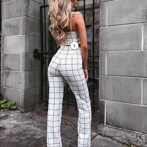 FASHION NOVA LINE BY LINE PANTSUIT